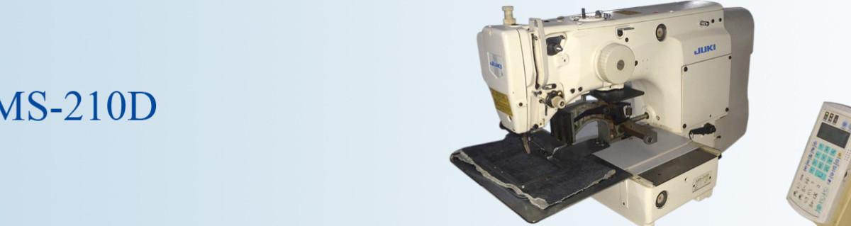 JUKI AMS 210D pattern used sewing machine banner tomsewing