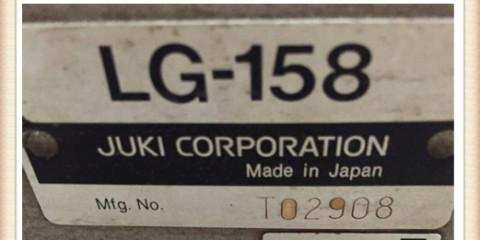 Used juki industrial sewing machines JUKI LG-158