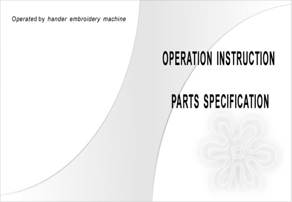 operated by hander embroidery machine (12)