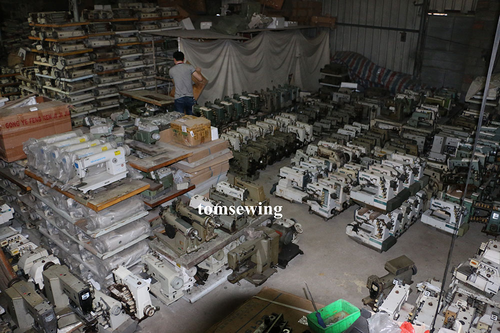 stock used sewing machine warehouse tomsewing