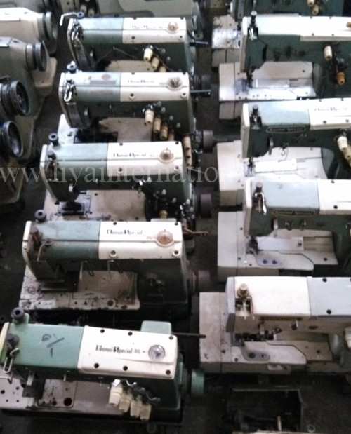 Kansai Special DFB-1404P multi-needle double chain stitch machines used
