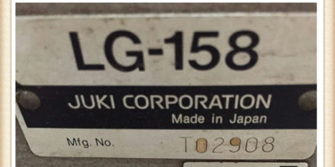Used juki industrial sewing machines JUKI LG-158