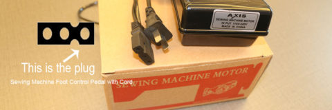 sewing machine foot speed control pedal with cord