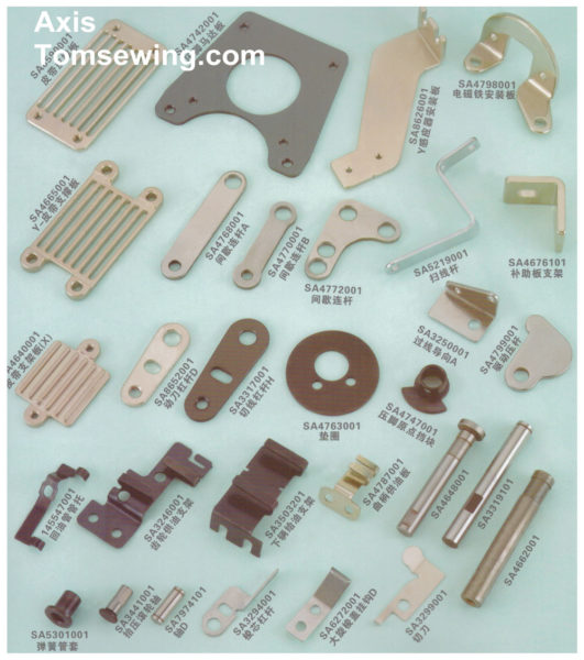 programmable-electronic-pattern-sewing-machine-cloth-feed mechanism-components
