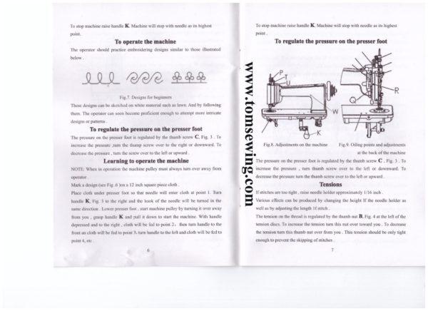 AXIS 10-1 chainstitch embroidery machine operation instruction parts manual