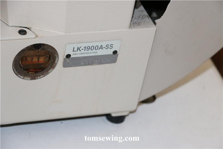 Juki Sewing Machine Lk 1900 Bartack For Sale Second Hand