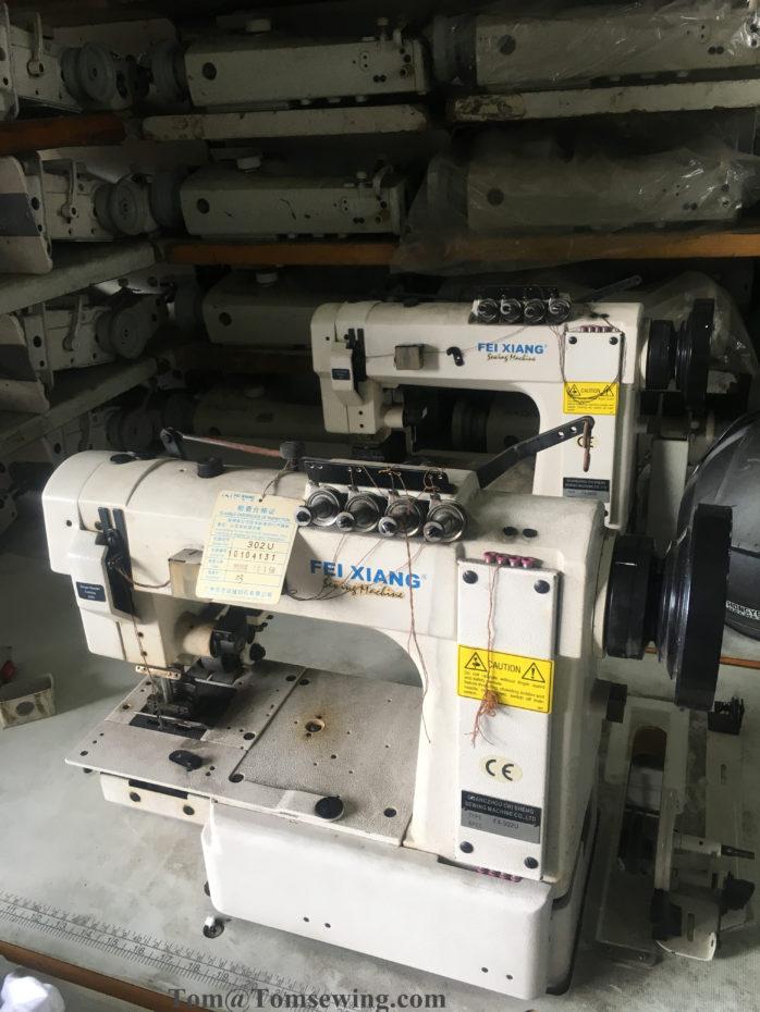 FX-302U Cylinder Bed Needle Feed Multi-Needle Chainstitch Machines